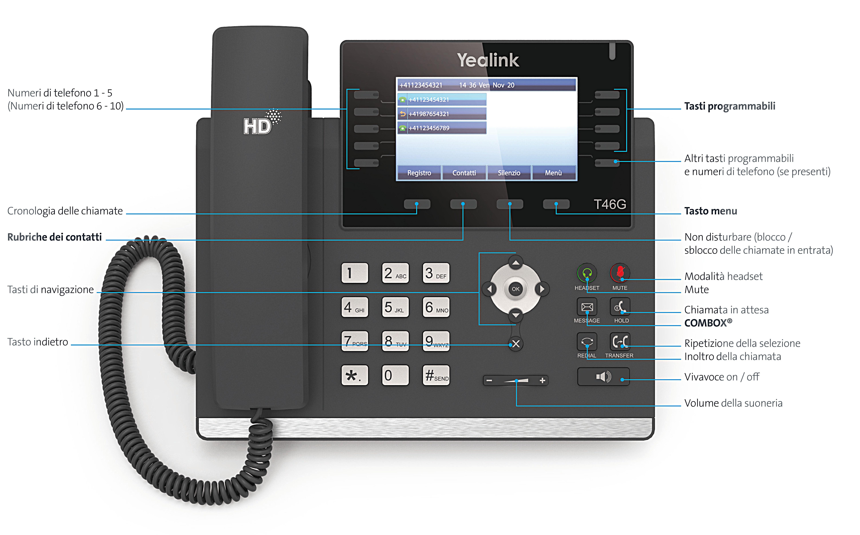 Hd phone yealink t46g swisscom for Telefongespr che aufzeichnen festnetz